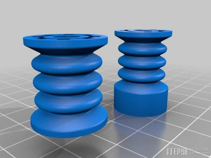 弹性耦合器 3D模型  图2