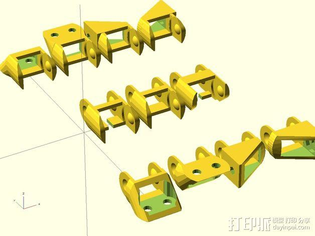 圆形锚链 3D模型  图2