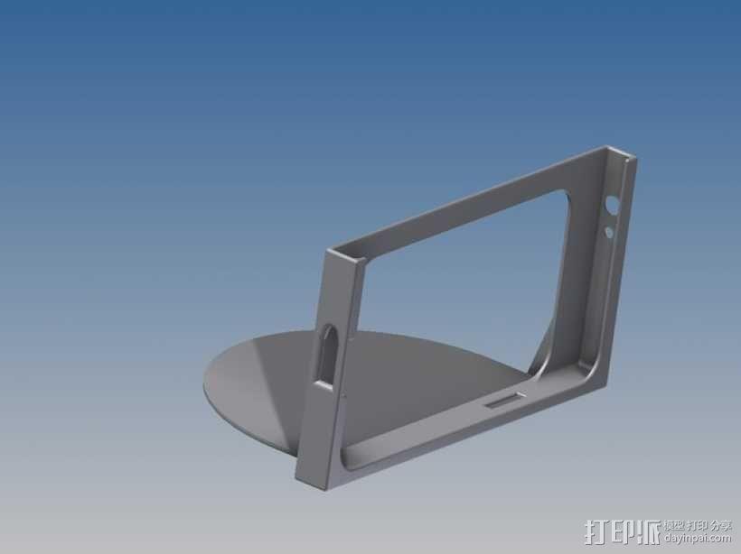 车载式三星Note 2手机支架 3D模型  图1