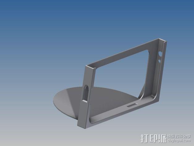 车载式三星Note 2手机支架 3D模型  图4