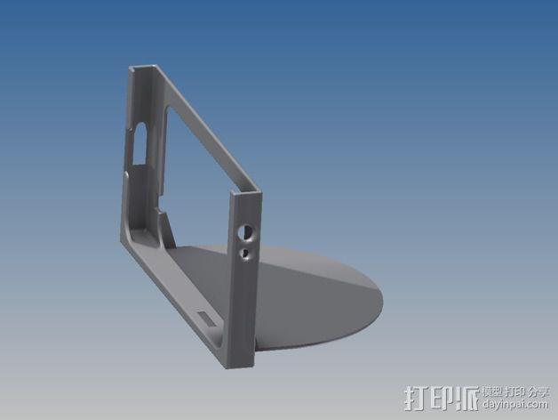 车载式三星Note 2手机支架 3D模型  图3