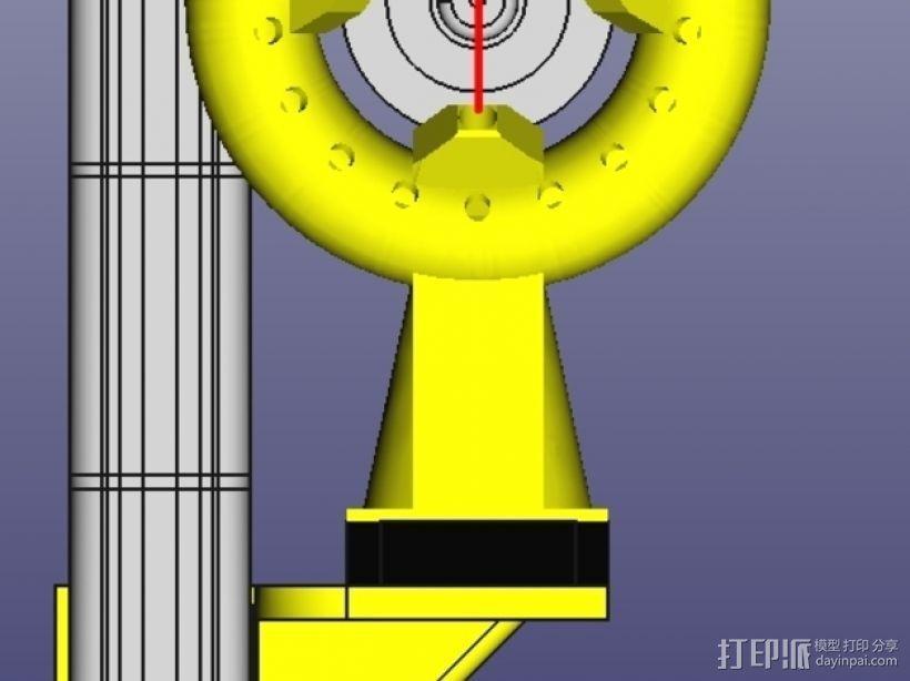 风扇导管 风扇支架 3D模型  图1