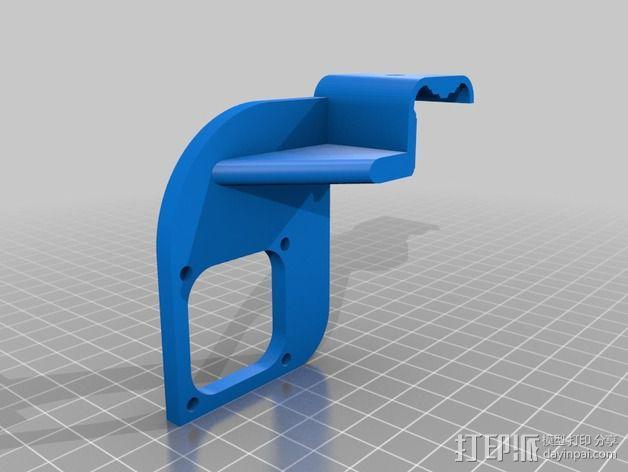 风扇导管 风扇支架 3D模型  图3