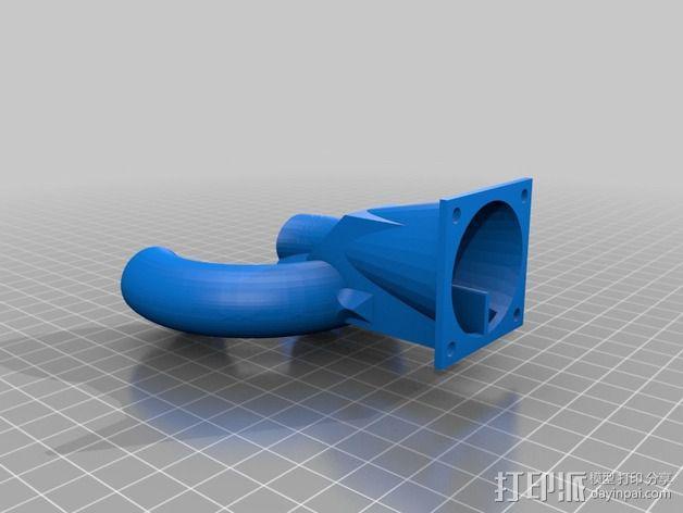 风扇导管 风扇支架 3D模型  图7