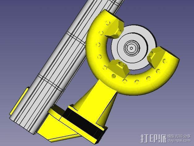 风扇导管 风扇支架 3D模型  图9