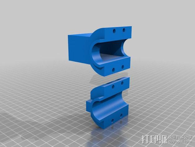 材料挤出料斗 3D模型  图1
