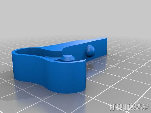 弹簧加压挤出机 3D模型  图4