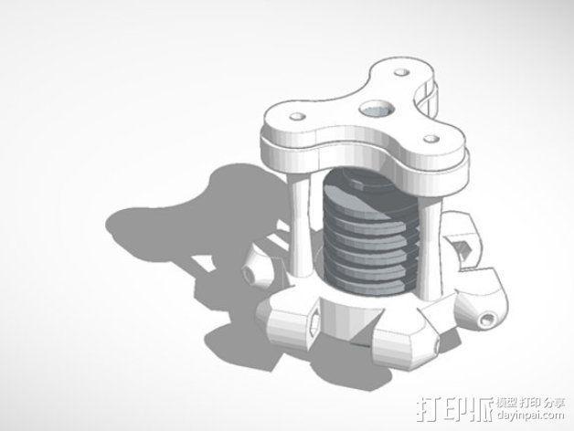喷嘴支架 3D模型  图7