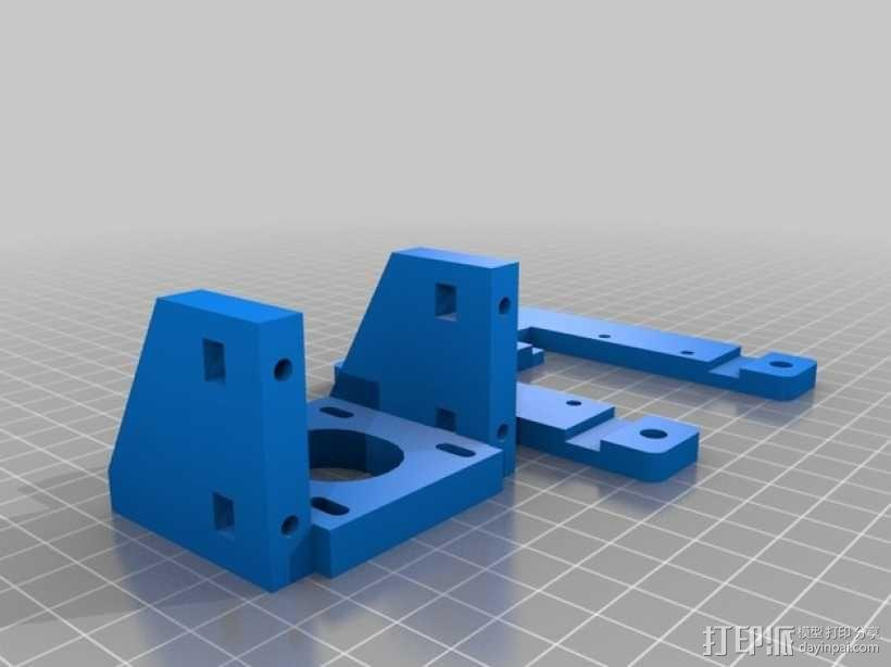 Z轴马达支架 3D模型  图2