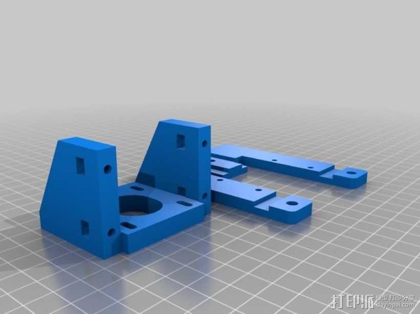 Z轴马达支架 3D模型  图3