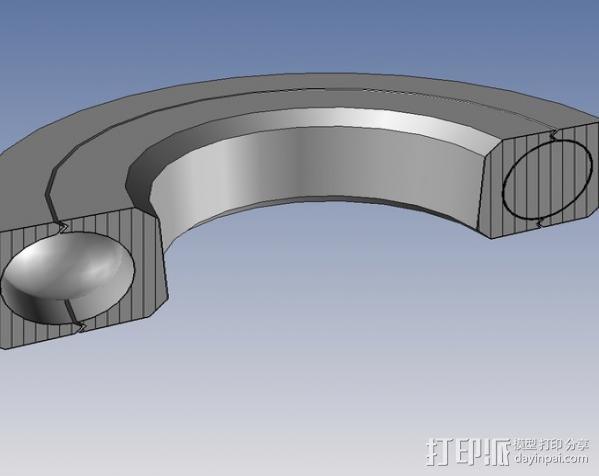 密封式滚珠轴承  3D模型  图3