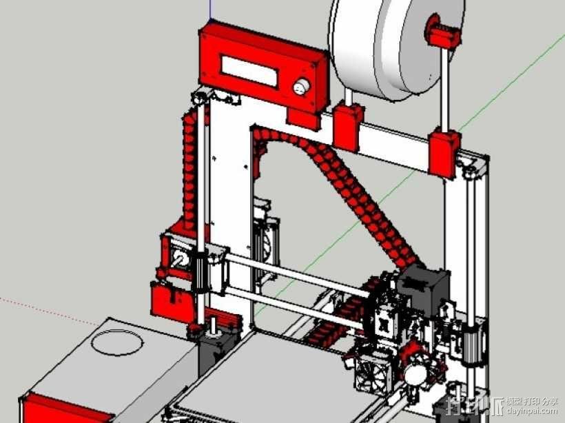 锚链 风扇支架 限位开关 3D模型  图1