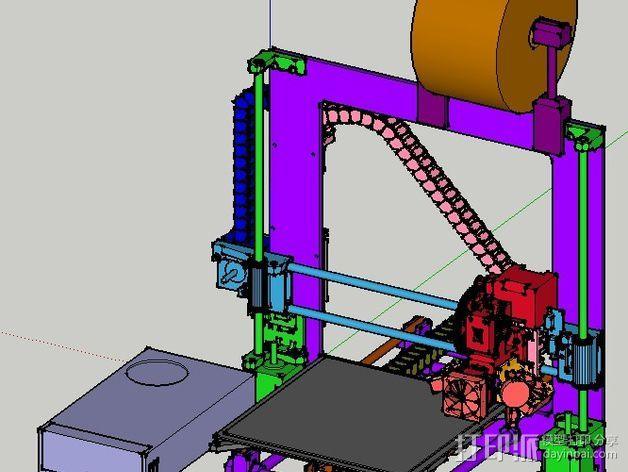 锚链 风扇支架 限位开关 3D模型  图2