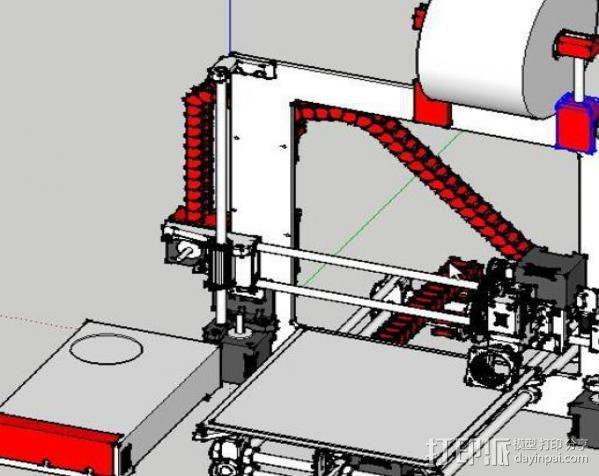 锚链 风扇支架 限位开关 3D模型  图5
