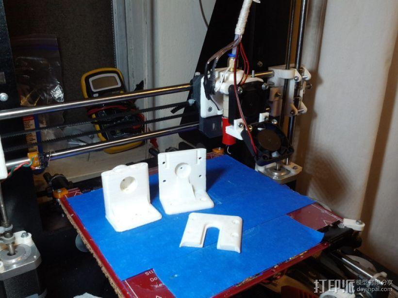 鲍登挤出机支架 3D模型  图1