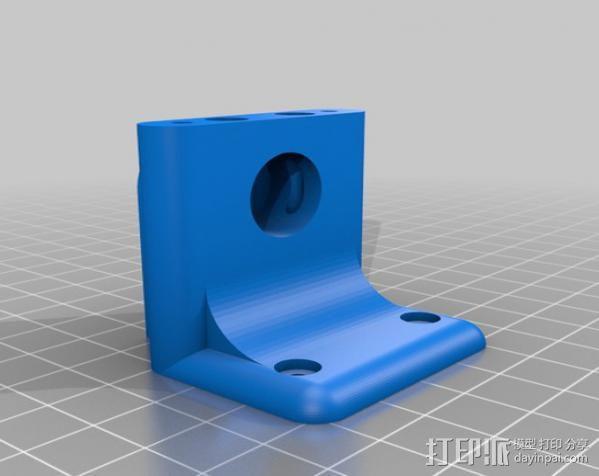 鲍登挤出机支架 3D模型  图3