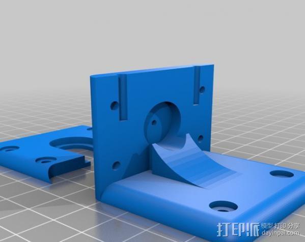 鲍登挤出机支架 3D模型  图2
