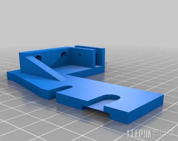 鲍登挤出机支架 3D模型  图4