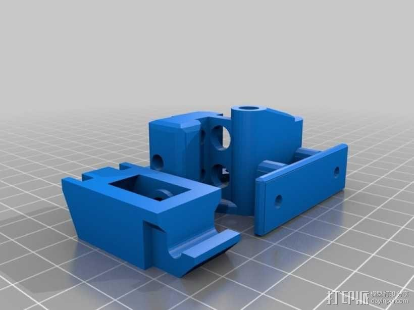 挤出机支架 3D模型  图2