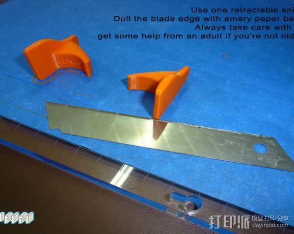 刀片架 刀片适配工具 3D模型  图6