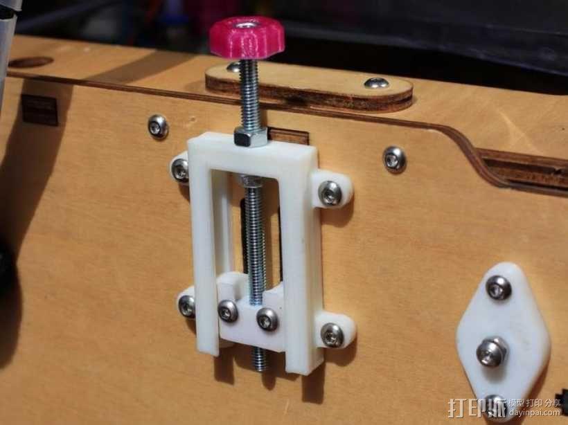 打印机Z轴开关调节器 3D模型  图1