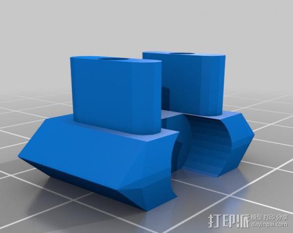 打印机Z轴开关调节器 3D模型  图3