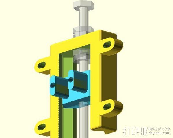 打印机Z轴开关调节器 3D模型  图5