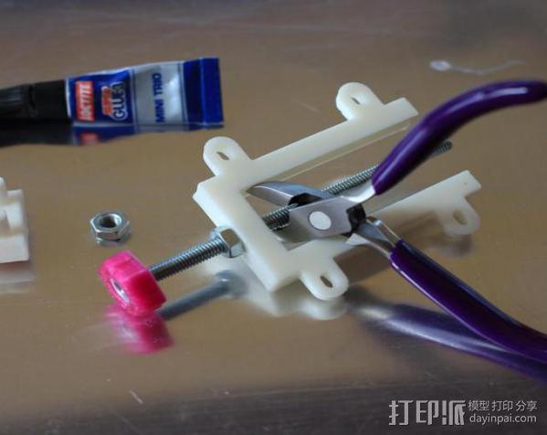 打印机Z轴开关调节器 3D模型  图6