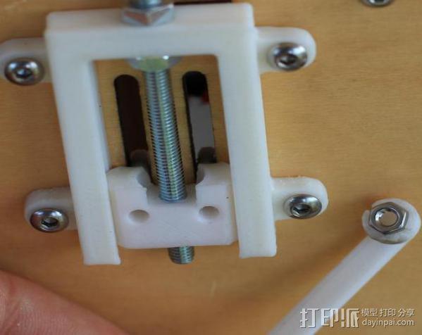 打印机Z轴开关调节器 3D模型  图8
