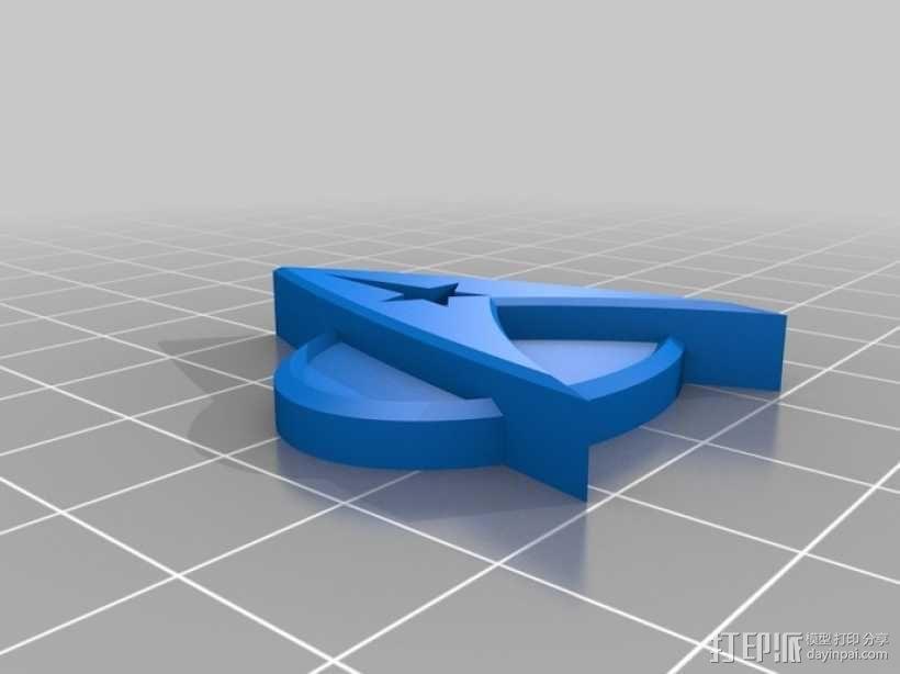 星际迷航标志 徽章 3D模型  图2
