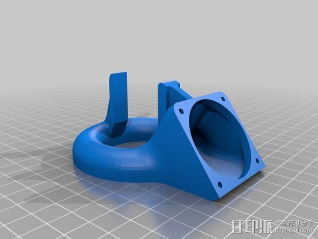 喷嘴风扇导管 3D模型  图2