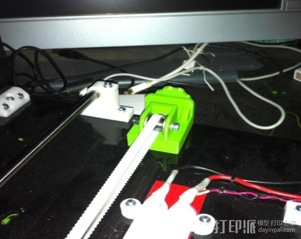 打印机Y轴皮带张紧器 3D模型  图2