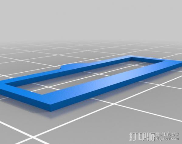 打印机Y轴皮带张紧器 3D模型  图6