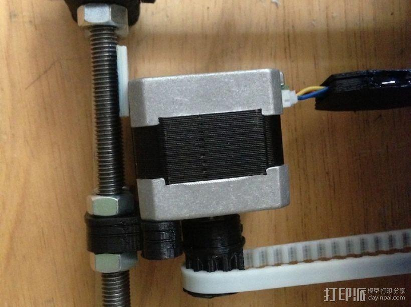 打印机Y轴马达稳定器 3D模型  图4