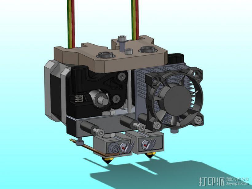 MK8双挤出机  3D模型  图1