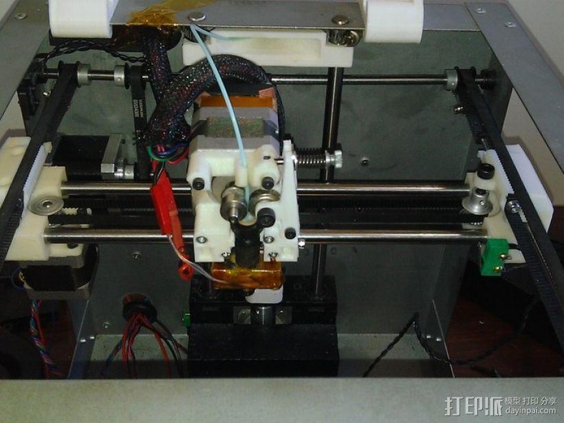 打印机X轴和Y轴部件 3D模型  图1