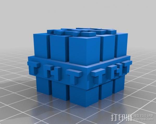 TNT砖块 我的世界 3D模型  图1