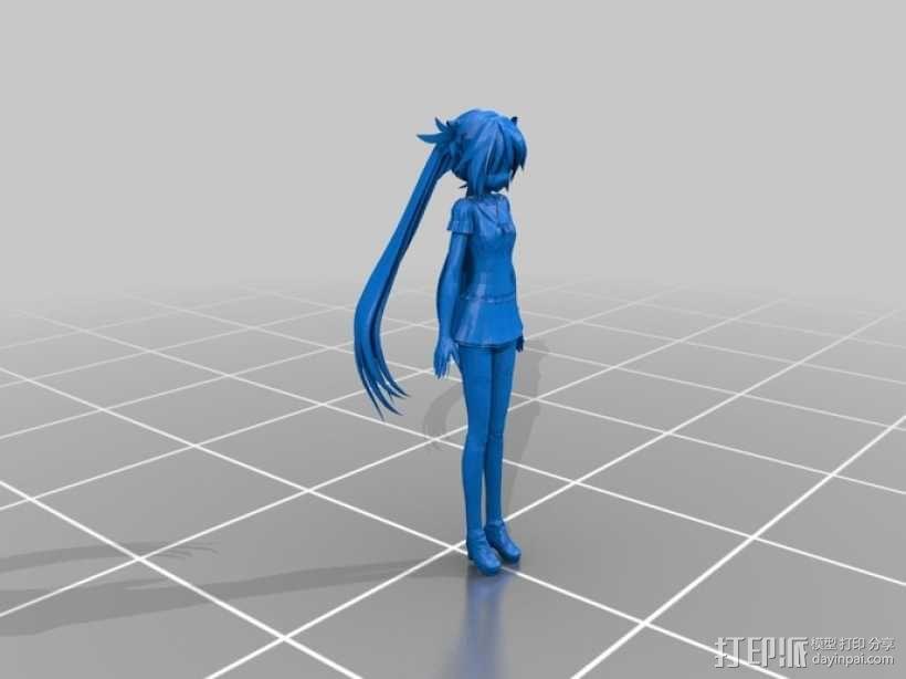 初音未来 3D模型  图1
