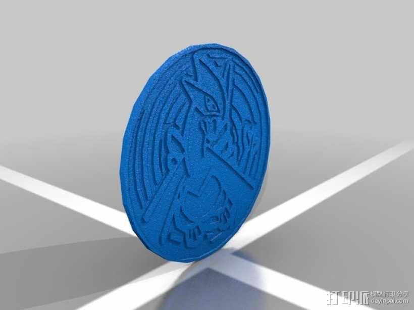 口袋妖怪 Lugia路基亚硬币  3D模型  图1