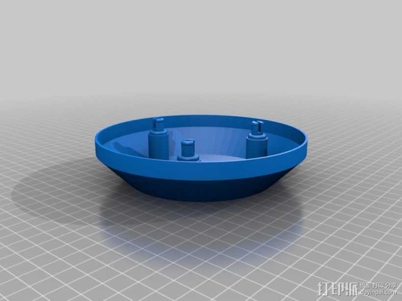 无线气象传感器百叶箱外盒 3D模型  图2