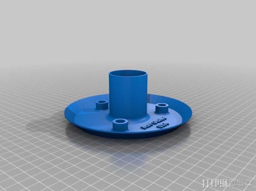 无线气象传感器百叶箱外盒 3D模型  图3