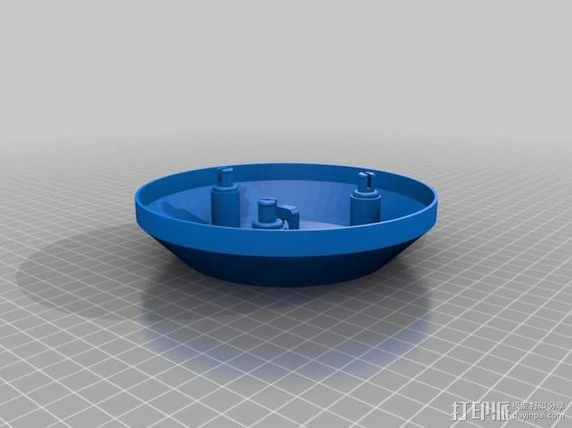 无线气象传感器百叶箱外盒 3D模型  图4