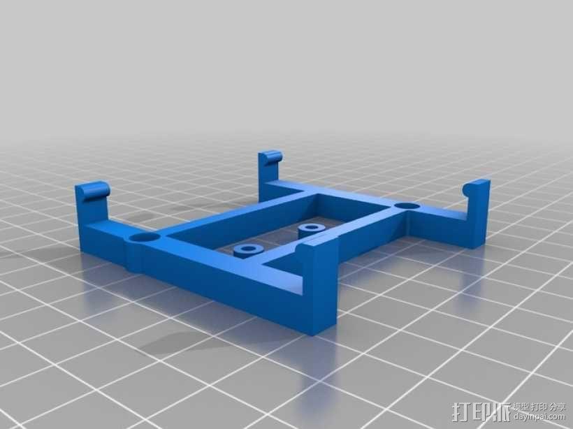 Rapsberry Pi 树莓派安装支架 3D模型  图2