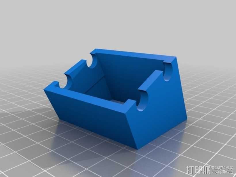 电源开关支架 3D模型  图3