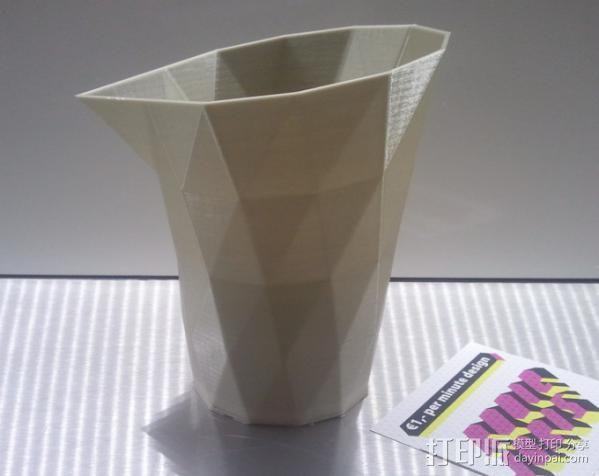 笔筒 花瓶 收纳盒 3D模型  图2