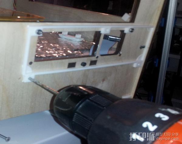 Replicator打印机仪表盘外框 3D模型  图4