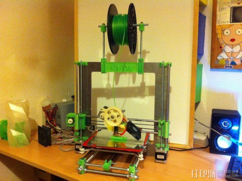 Prusa i3打印机线轴支架 3D模型  图1
