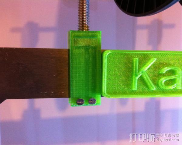Prusa i3打印机线轴支架 3D模型  图4