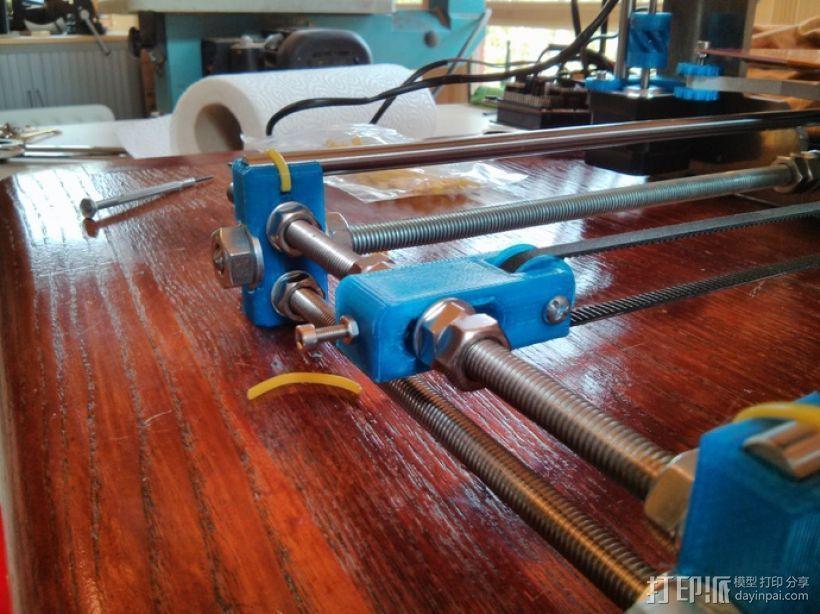 打印机Y轴惰轮 3D模型  图1