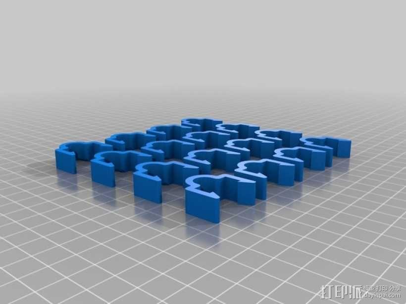 线材夹 3D模型  图1